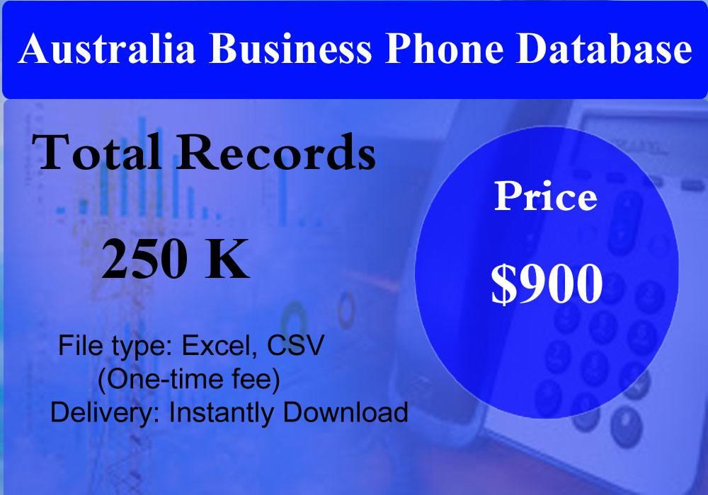 Australia Business Phone Database