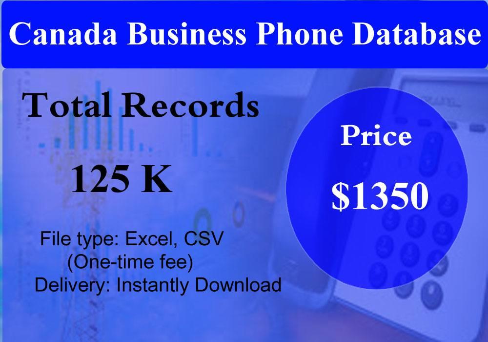 Canada Business Phone Database