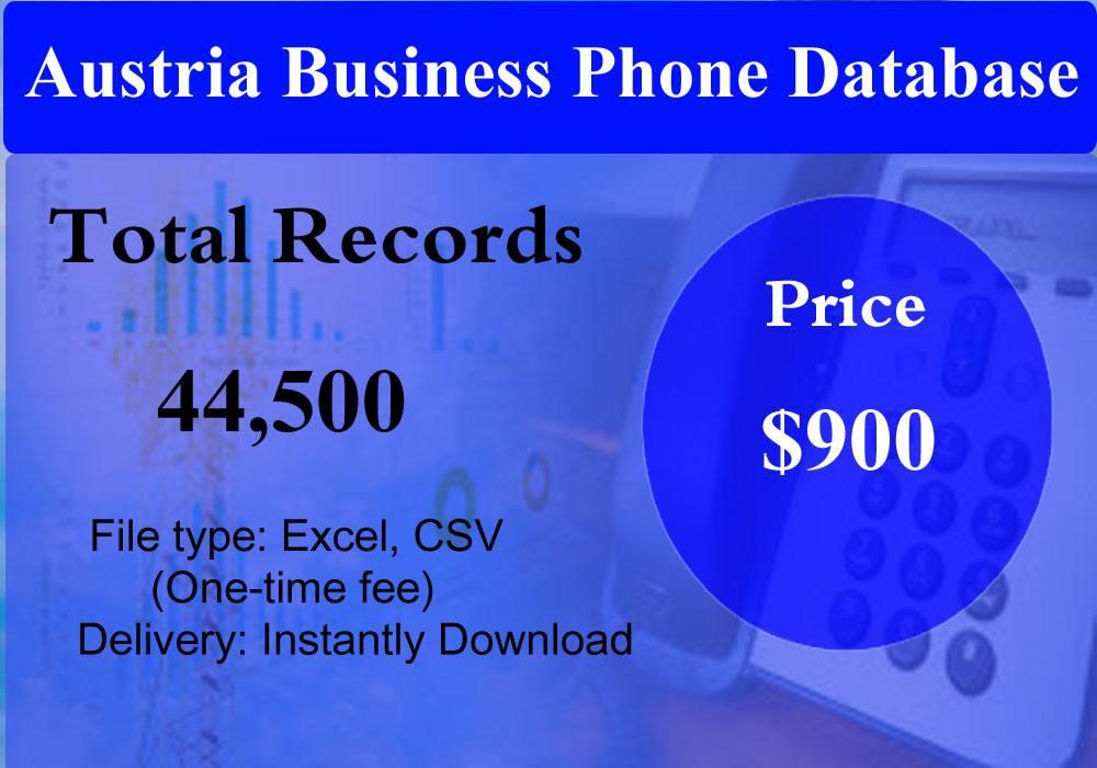 Austria Business Phone Database