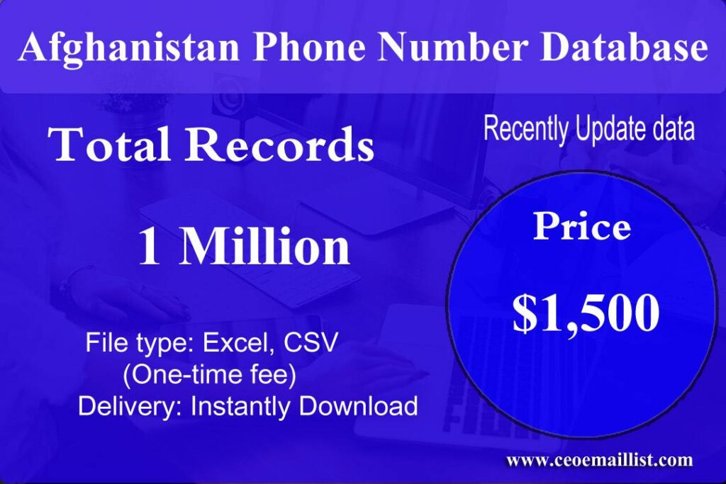Afghanistan Phone Number Database