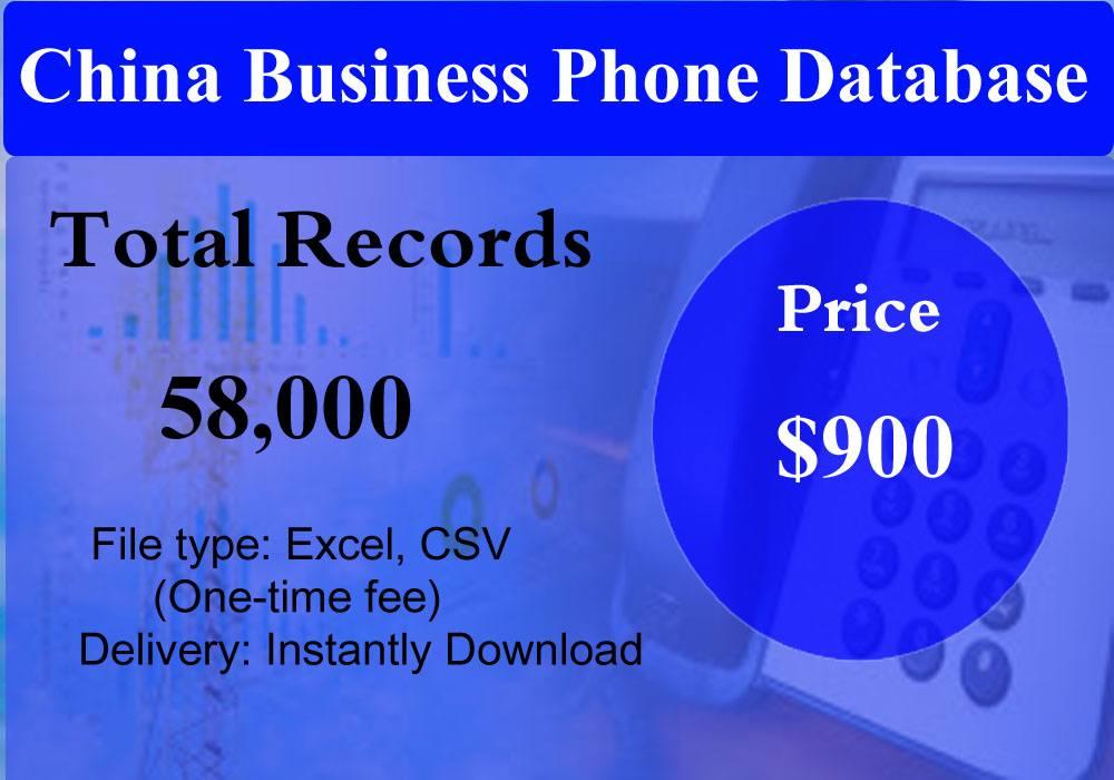 China Business Phone Database
