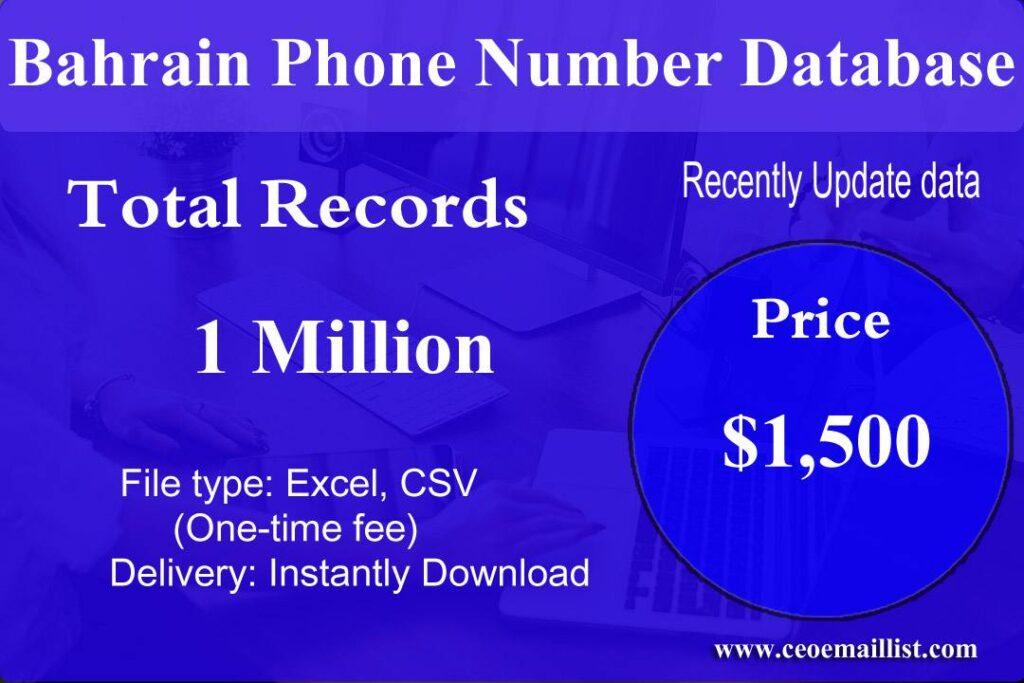 Bahrain Phone Number Database