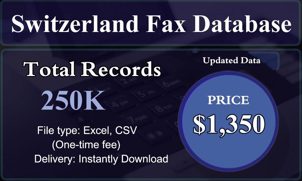 Switzerland Fax Database