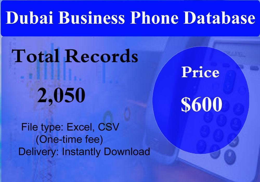 Dubai Business Phone Database