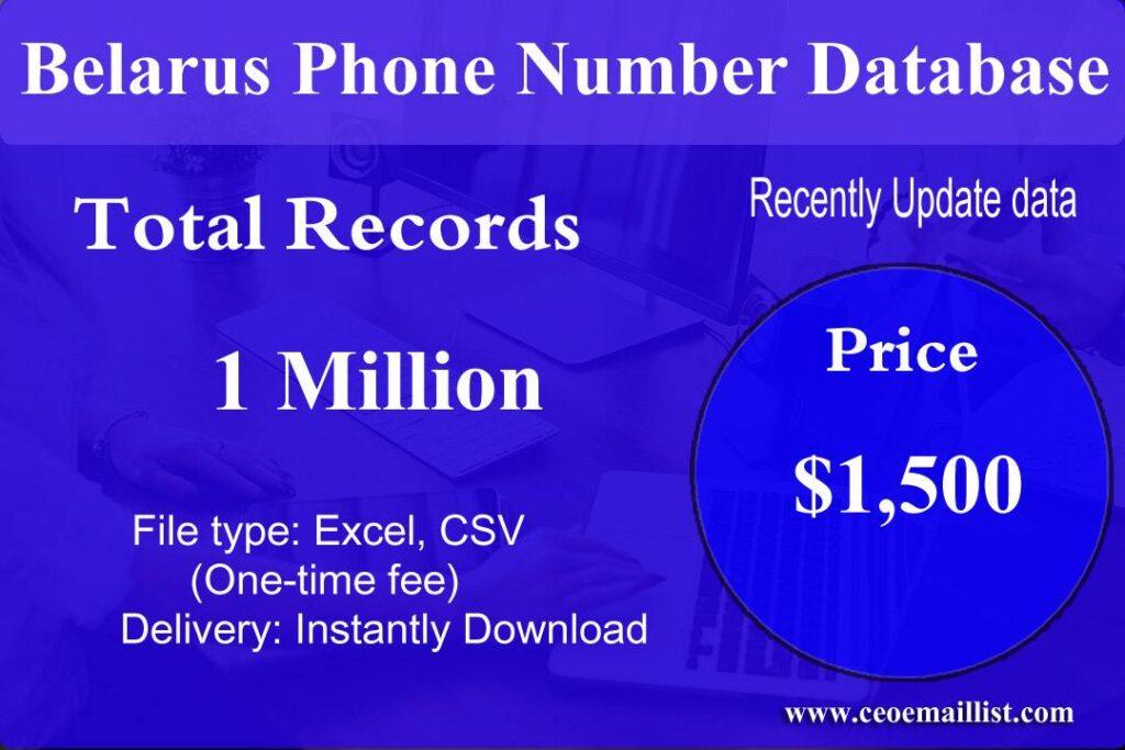 Belarus Phone Number Database