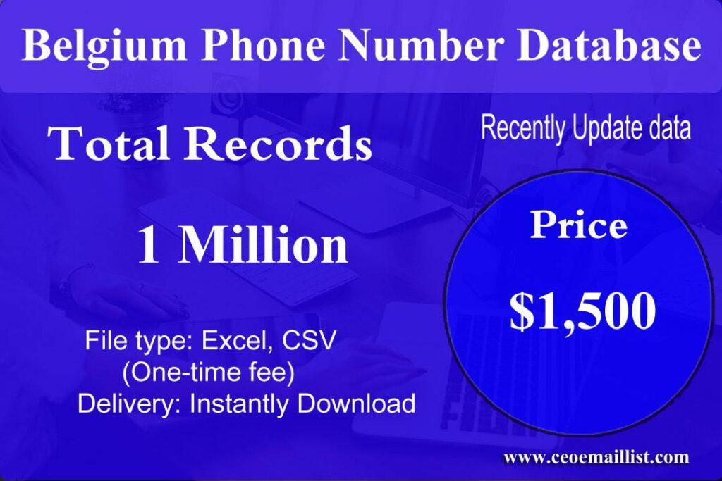 Belgium Phone Number Database