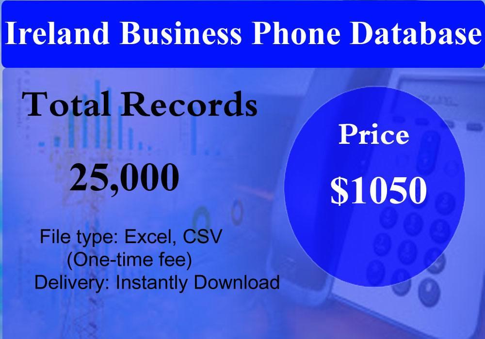 Ireland Business Phone Database