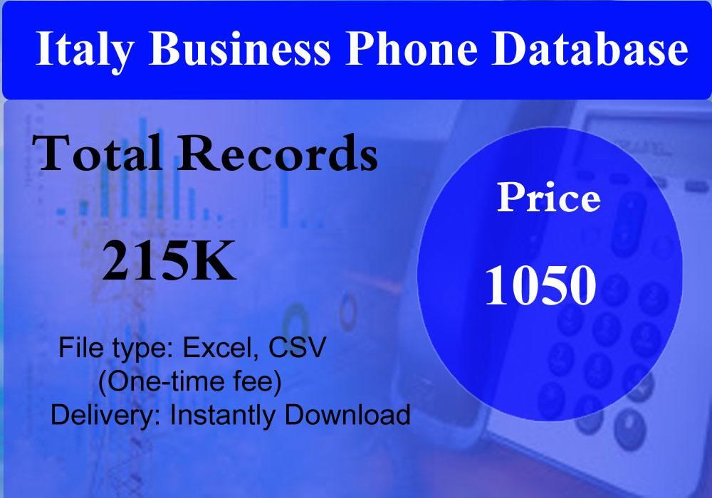 Italy Business Phone Database