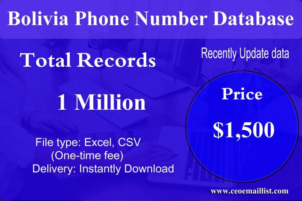 Bolivia Phone Number Database
