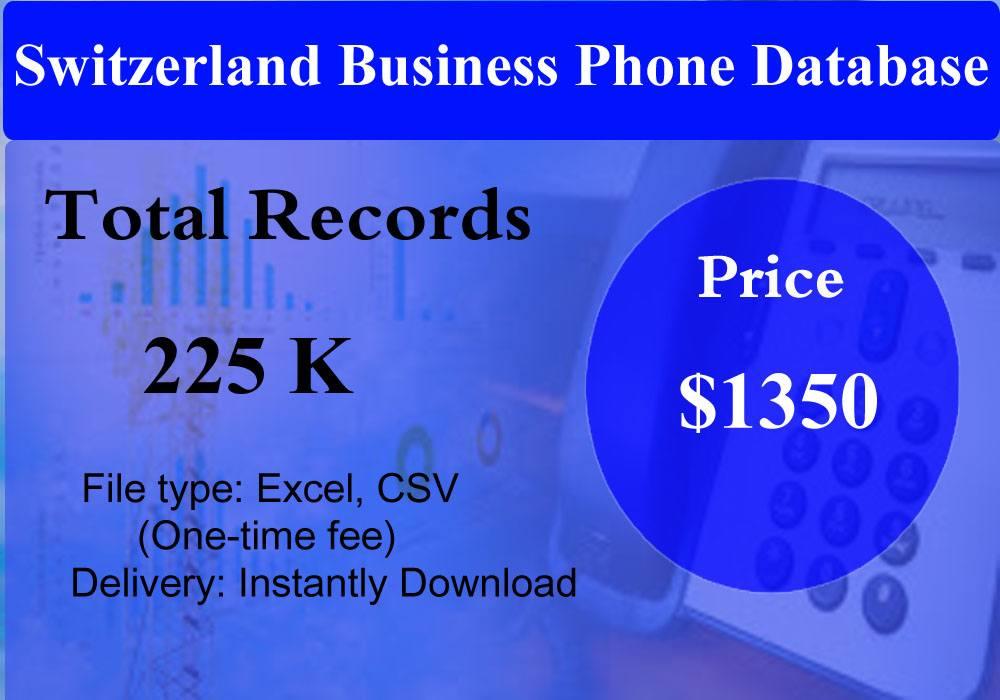 Switzerland Business Phone Database