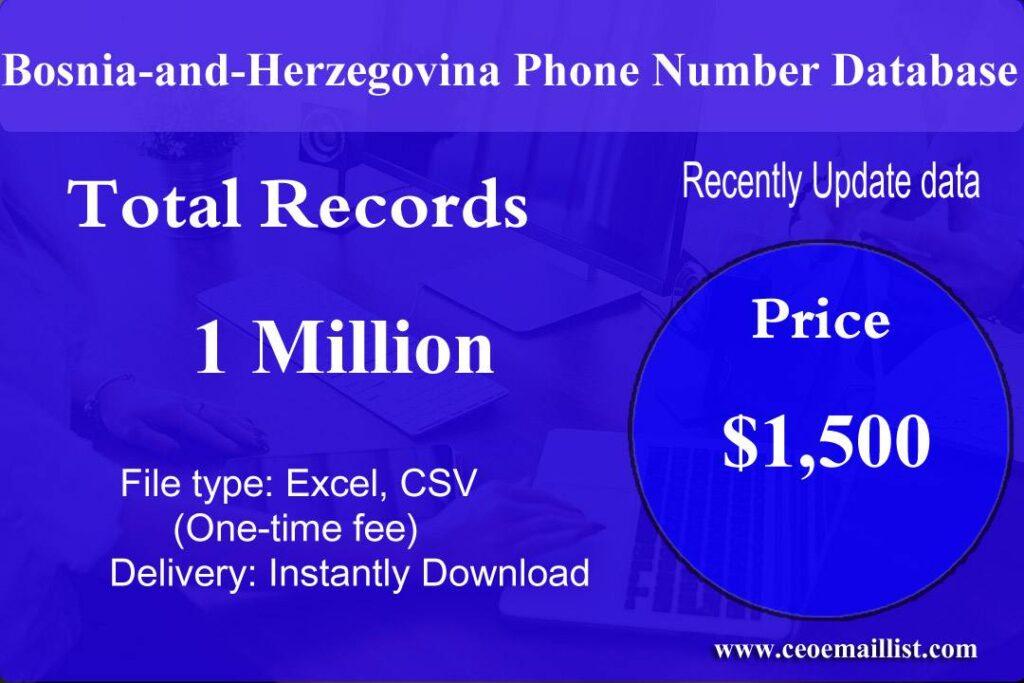 Bosnia-and-Herzegovina Phone Number Database
