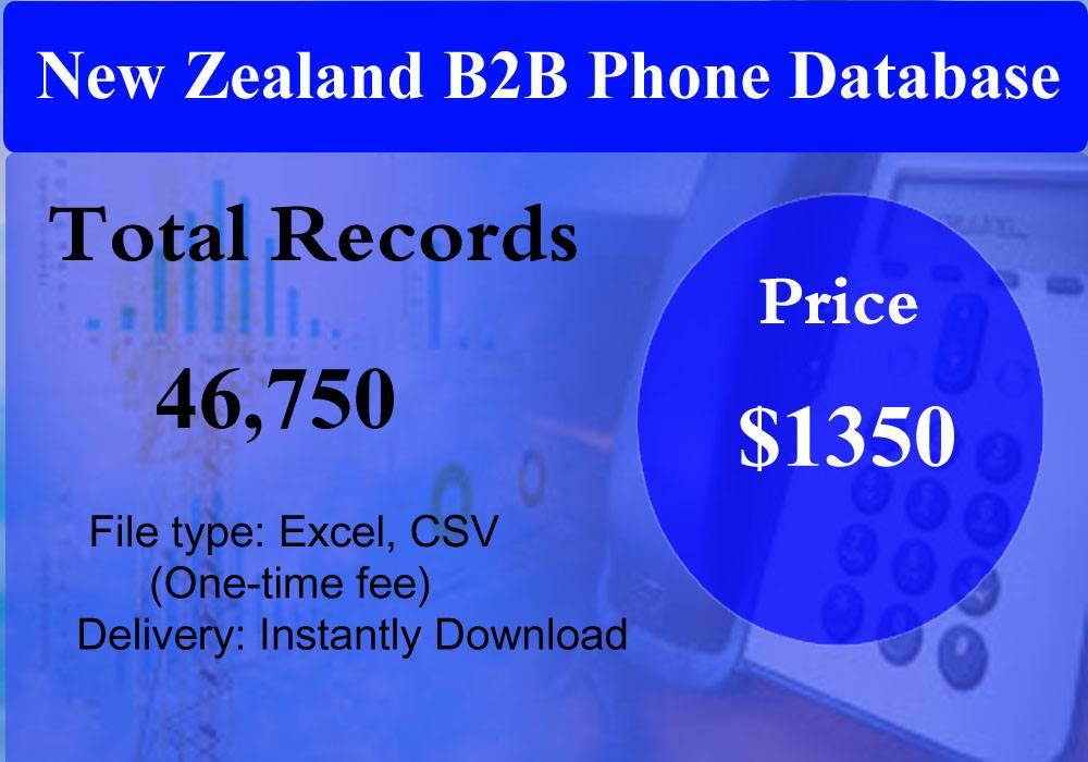 New Zealand B2B Phone Database