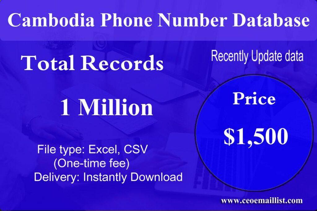 Cambodia Phone Number Database