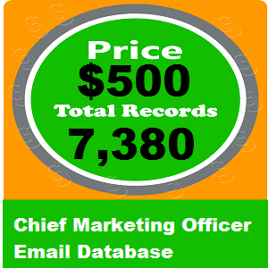 Chief Marketing Officer Email Database