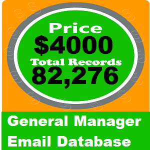 General Manager Email Database
