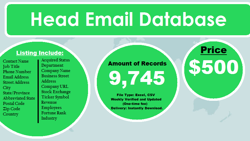 Head Email Database