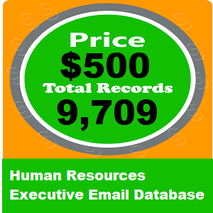 Human Resources Executive Email Database