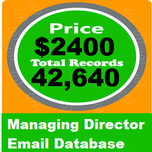 Managing Director Email Database