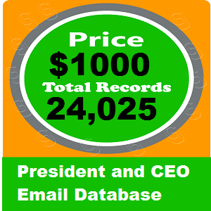 President and CEO Email Database