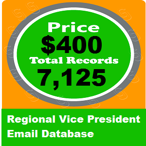 Regional Vice President Email Database