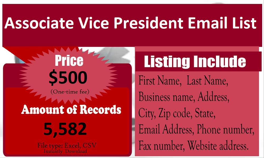 Associate-Vice-President-Email-List