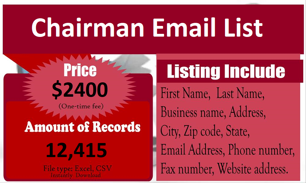 Chairman-Email-List