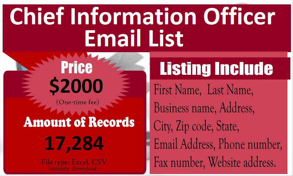 Chief-Information-Officer-Email-List