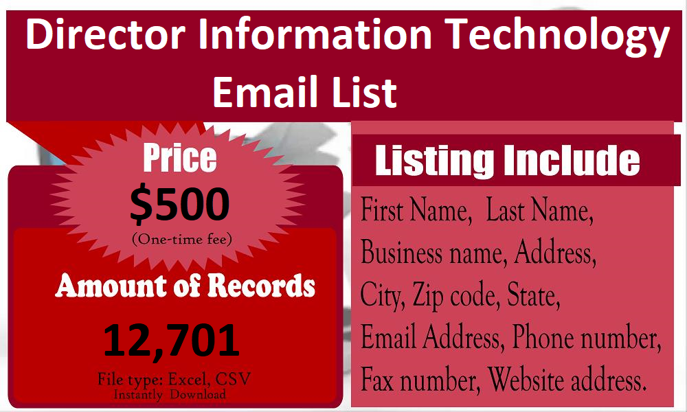 Director-Information-Technology-Email-List