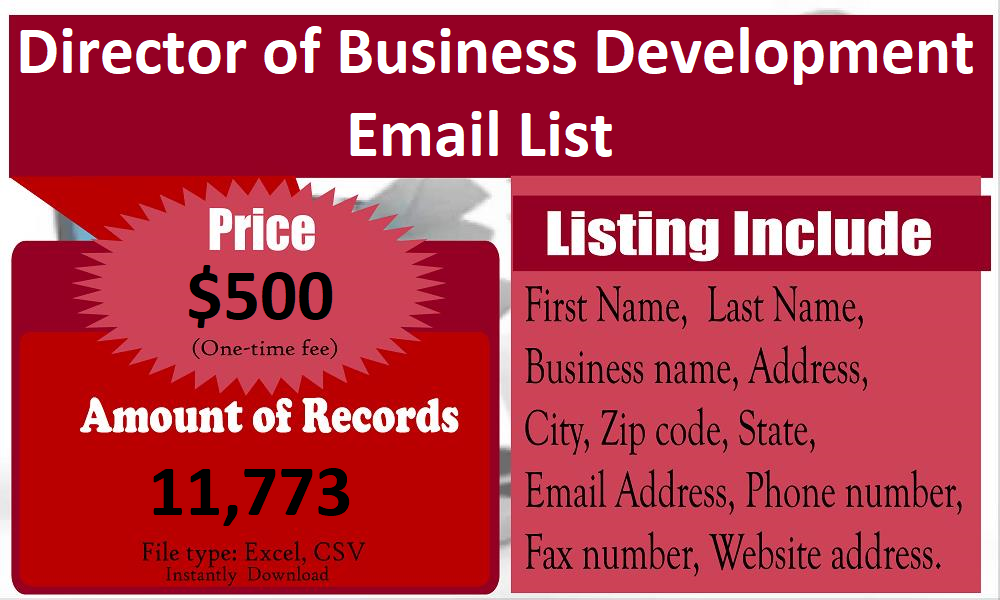 Director-of-Business-Development-Email-List