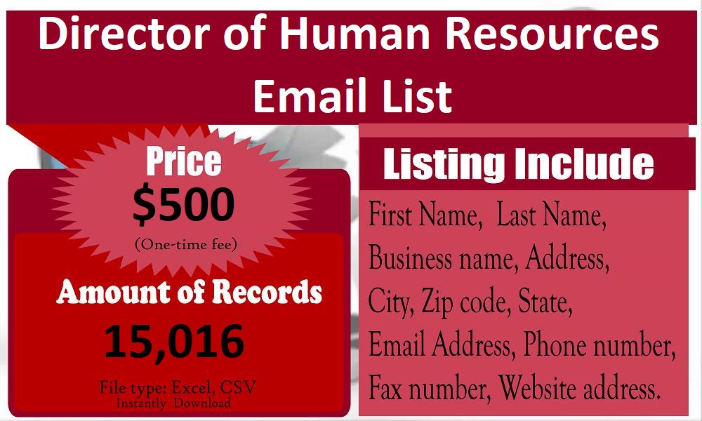 Director-of-Human-Resources-Email-List