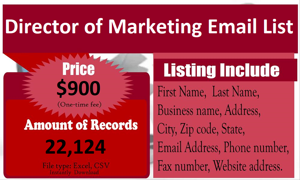 Director-of-Marketing-Email-List