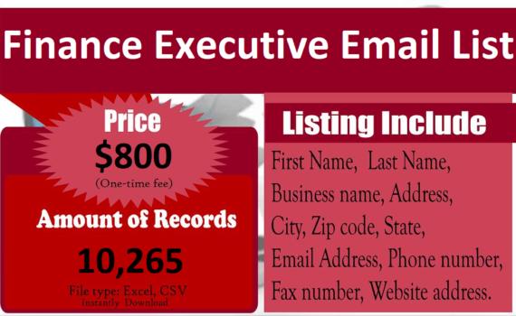 Finance-Executive-Email-List