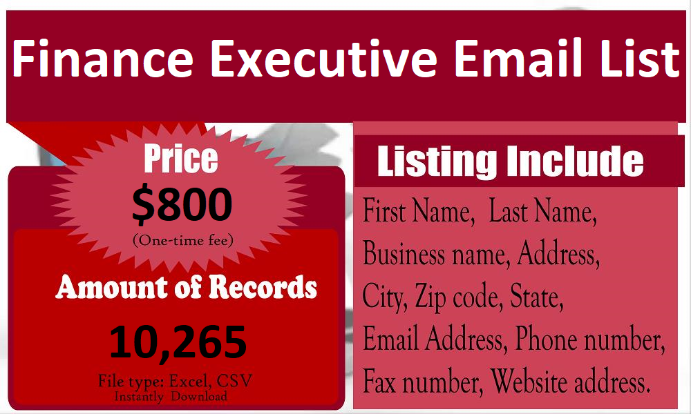 Finance-Executive-Email-List