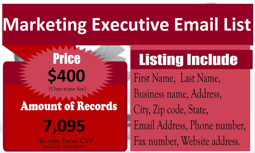 Marketing-Executive-Email-List