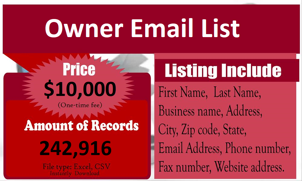 Owner-Email-List