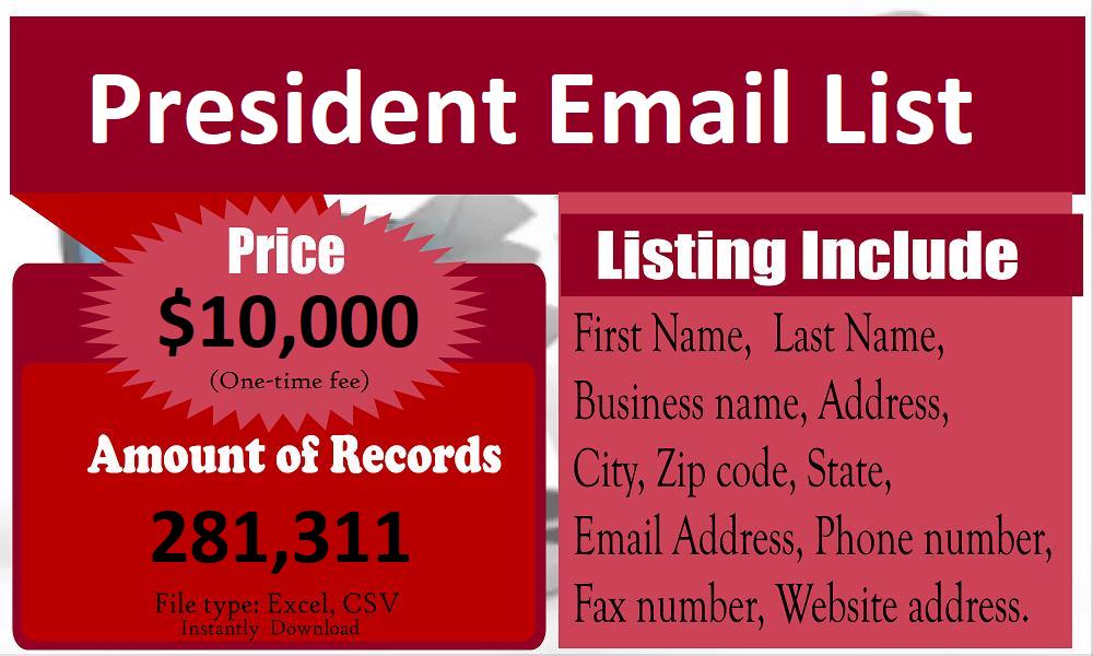 President-Email-List