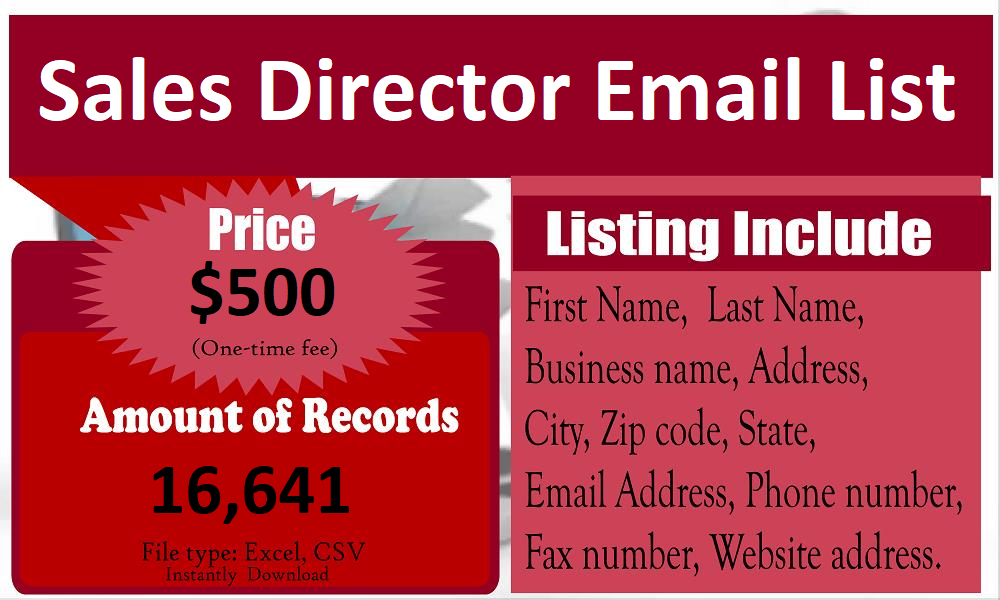 Sales-Director-Email-List