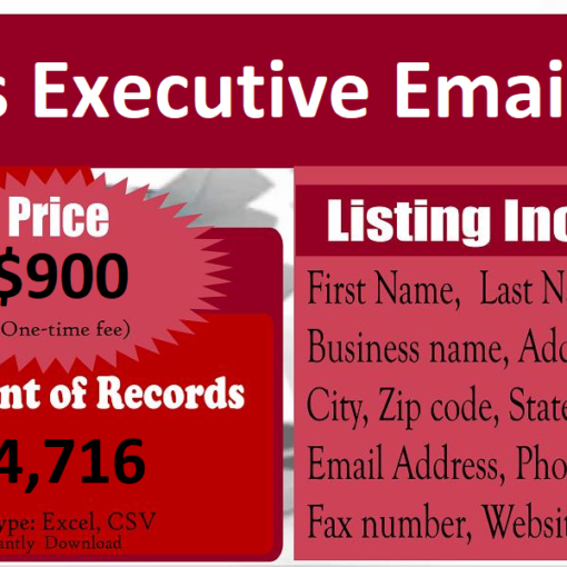 Sales Executive Email List