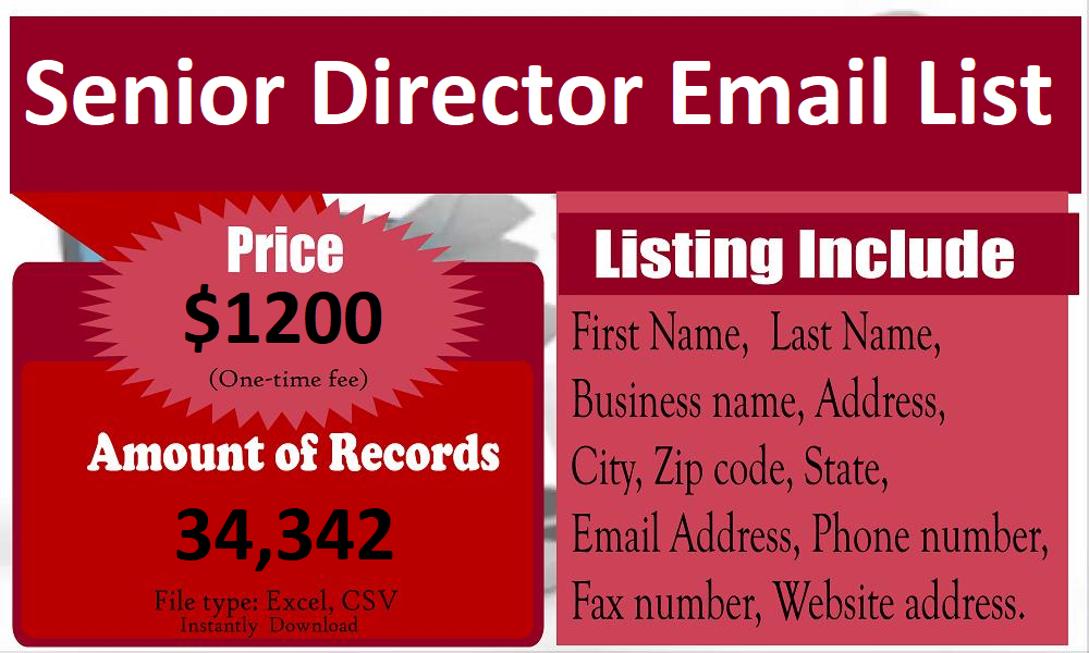 Senior Director Email List