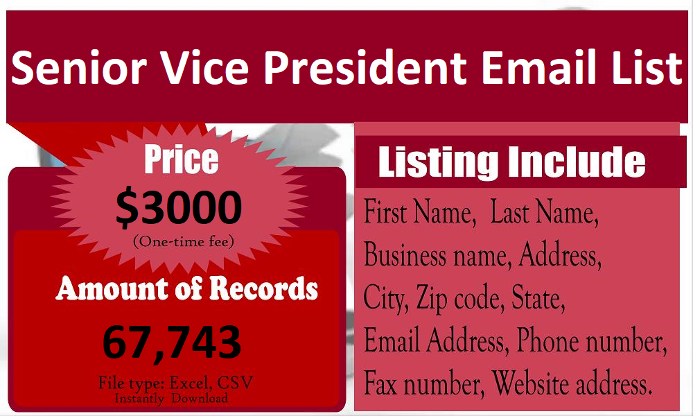 Senior-Vice-President-Email-List