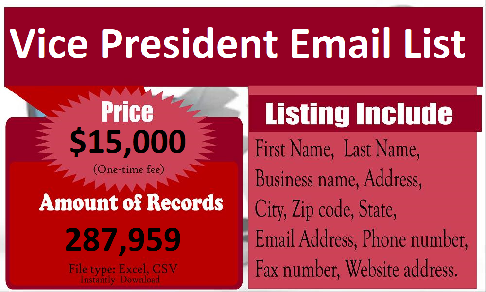 Vice-President-Email-List