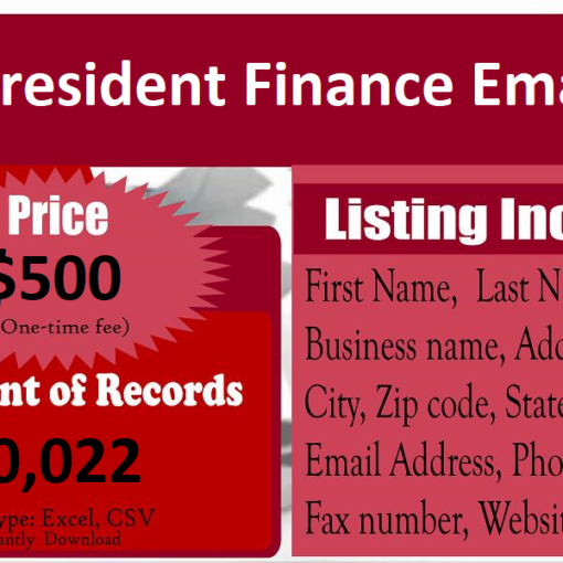 Vice-President-Finance-Email-List