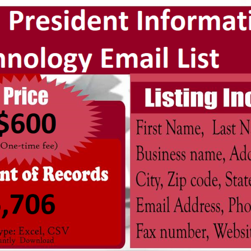 Vice-President-Information-Technology-Email-List