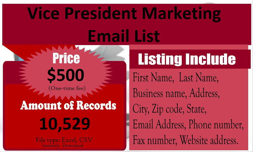 Vice-President-Marketing-Email-List
