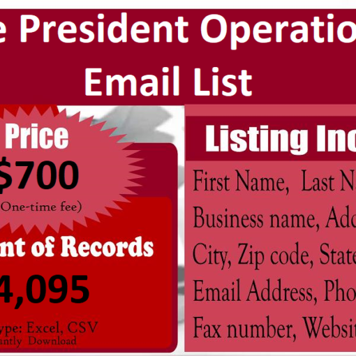 Vice-President-Operations-Email-List