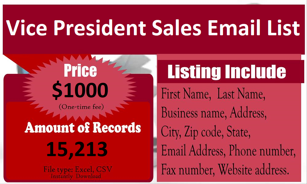 Vice-President-Sales-Email-List