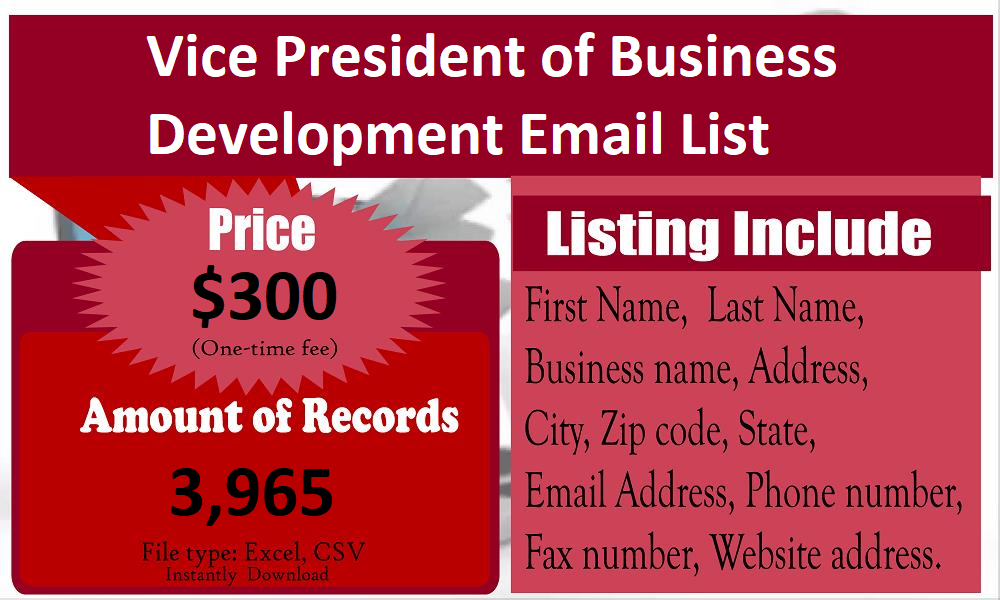 Vice-President-of-Business-Development-Email-List