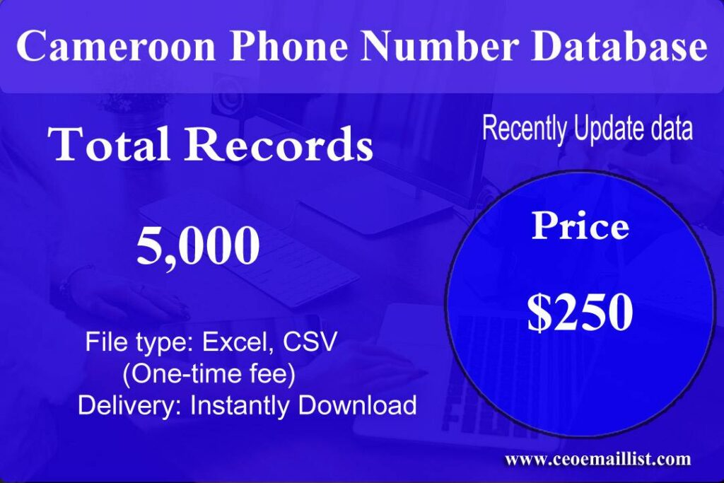 Cameroon Phone Number Database