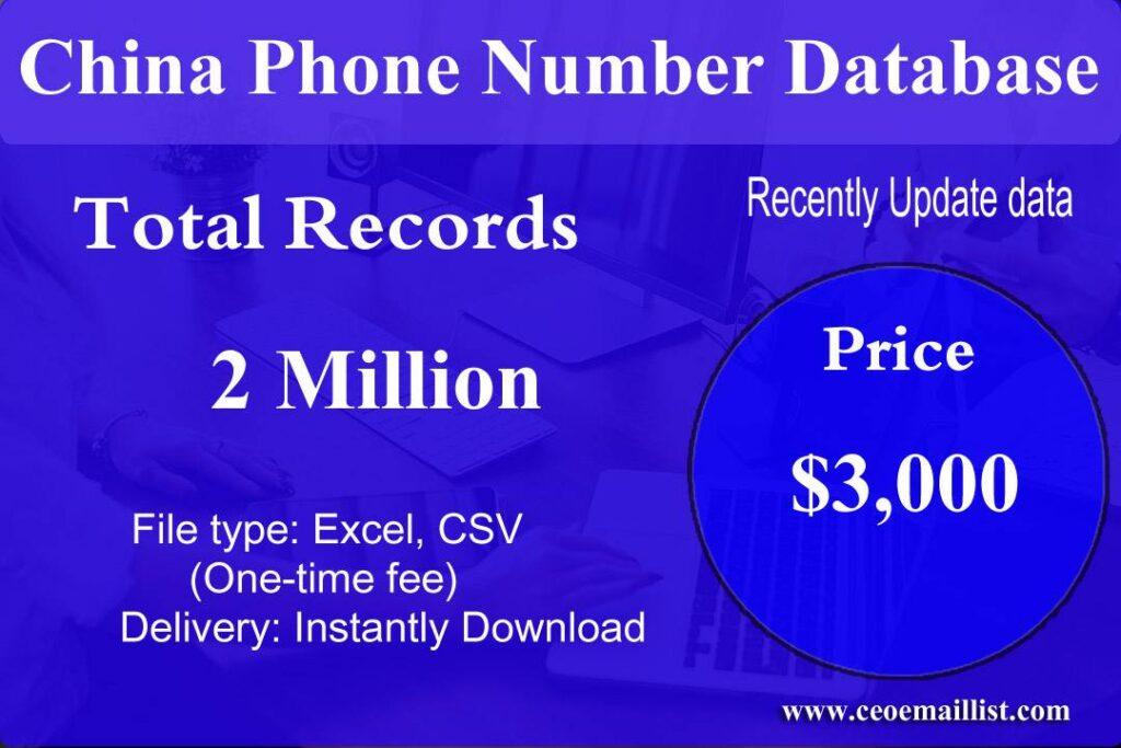 China Phone Number Database