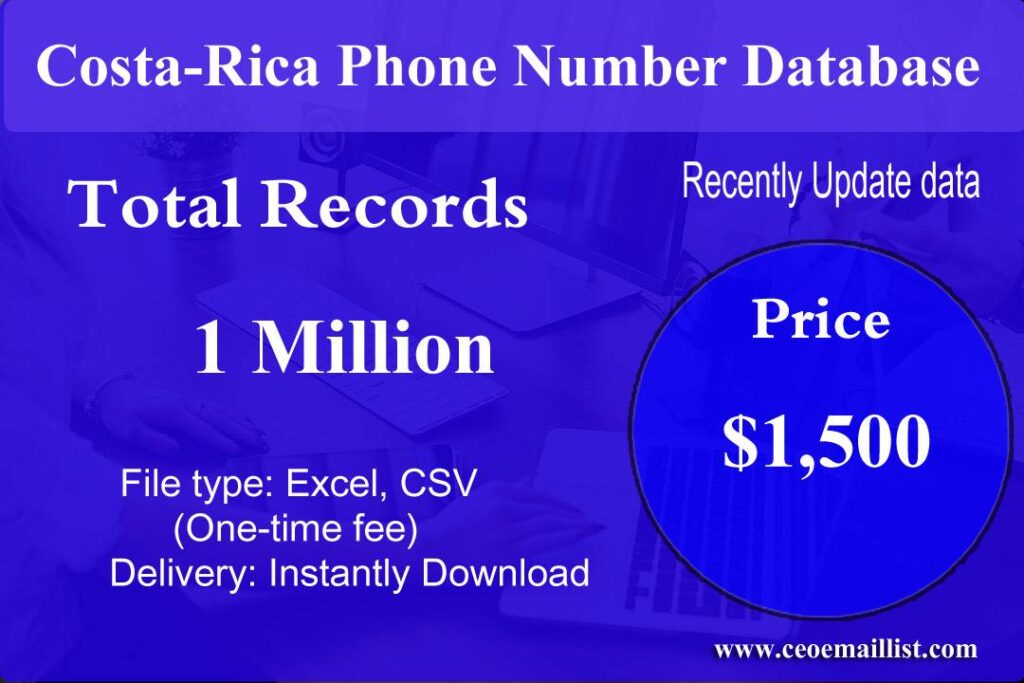 Costa-Rica Phone Number Database